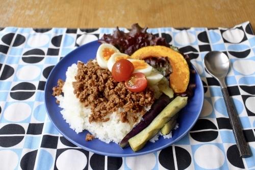 ひき肉と半熟卵と夏野菜ののっけごはん_f0220354_21170469.jpeg