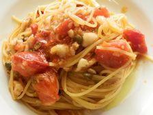 5/9本日パスタ:真鱈とケッパーのトマト・スパゲティ_a0116684_12324446.jpg