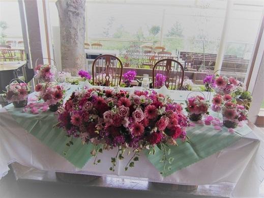 ピンク♪ぴんく♪のウエディング花。_f0054809_10193028.jpg