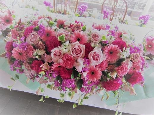 ピンク♪ぴんく♪のウエディング花。_f0054809_10193325.jpg