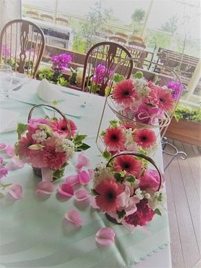 ピンク♪ぴんく♪のウエディング花。_f0054809_10193690.jpg