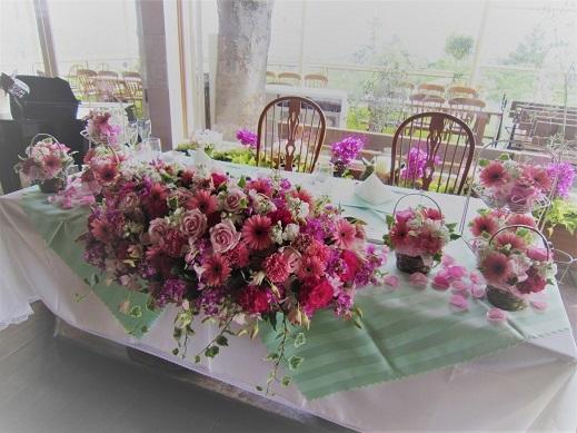 ピンク♪ぴんく♪のウエディング花。_f0054809_10193928.jpg