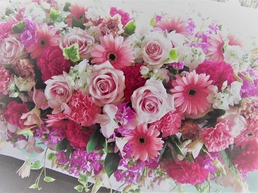 ピンク♪ぴんく♪のウエディング花。_f0054809_10194200.jpg