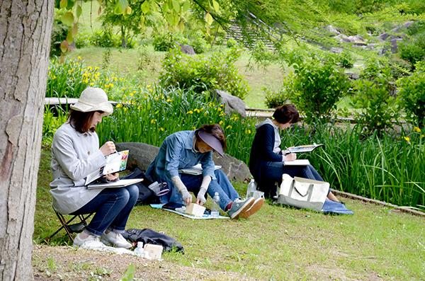 淡彩風景画講座・5月のテーマ「公園を描く」ご紹介_b0212226_11584939.jpg