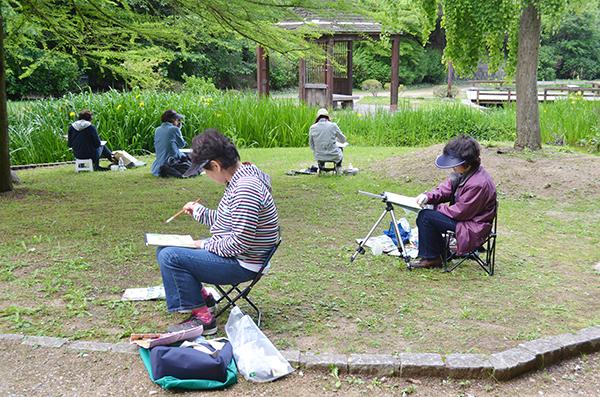 淡彩風景画講座・5月のテーマ「公園を描く」ご紹介_b0212226_11584960.jpg
