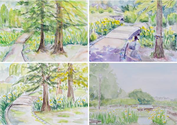 淡彩風景画講座・5月のテーマ「公園を描く」ご紹介_b0212226_12004628.jpg