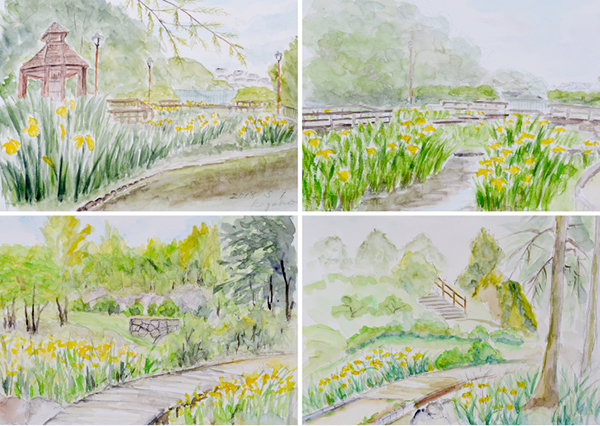 淡彩風景画講座・5月のテーマ「公園を描く」ご紹介_b0212226_12010120.jpg
