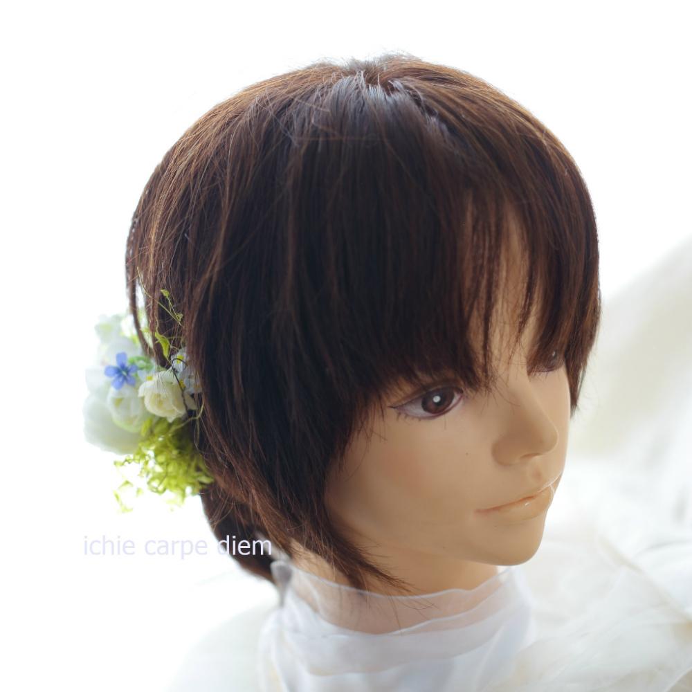 自分でつけられる花多めの髪飾り カチューシャ仕立て 軽井沢石の教会の花嫁様へ 付け方説明_a0042928_20534256.jpg