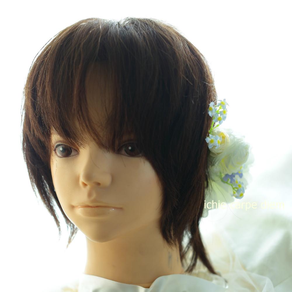 自分でつけられる花多めの髪飾り カチューシャ仕立て 軽井沢石の教会の花嫁様へ 付け方説明_a0042928_20540046.jpg
