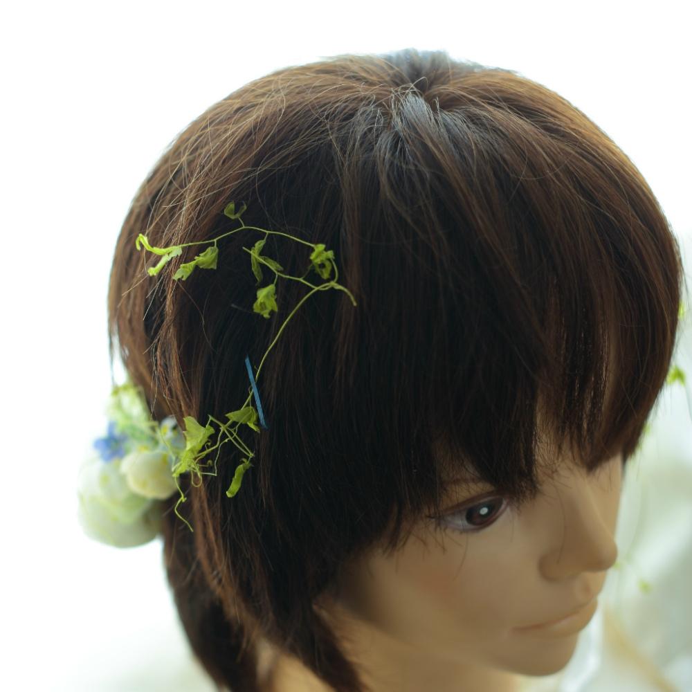 自分でつけられる花多めの髪飾り カチューシャ仕立て 軽井沢石の教会の花嫁様へ 付け方説明_a0042928_20540255.jpg