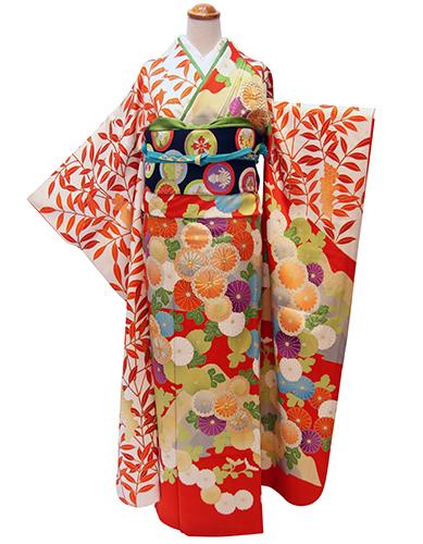 成人式に格上華やかさ☆川島織物製帯×古典柄振袖_b0098077_14162166.jpg