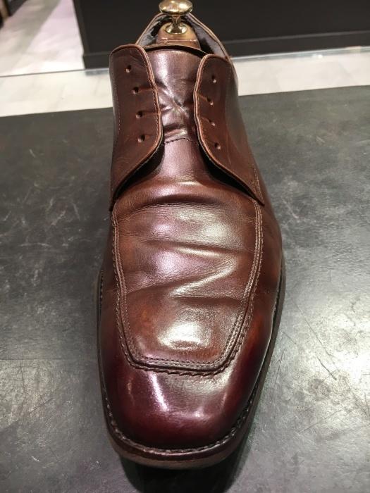 茶靴のつま先にバーガンディー_b0226322_16595658.jpg