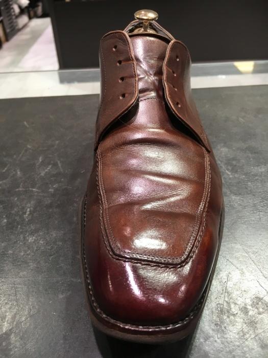 茶靴のつま先にバーガンディー_b0226322_16595810.jpg