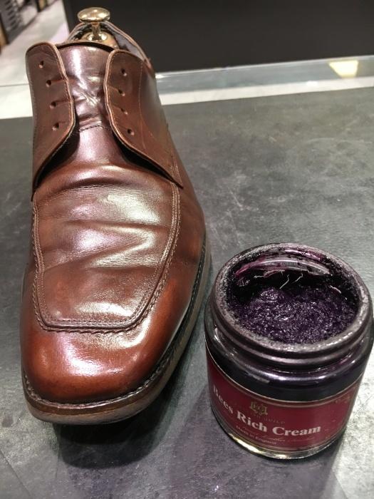 茶靴のつま先にバーガンディー_b0226322_17000078.jpg