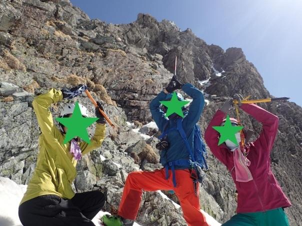 槍ヶ岳で山滑走_b0133032_20284488.jpg