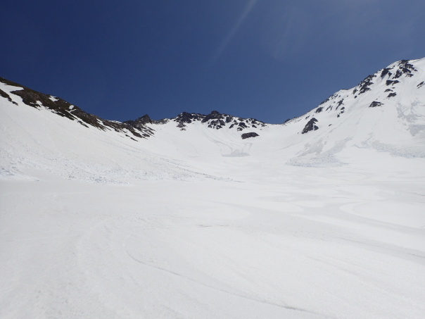槍ヶ岳で山滑走_b0133032_20285175.jpg