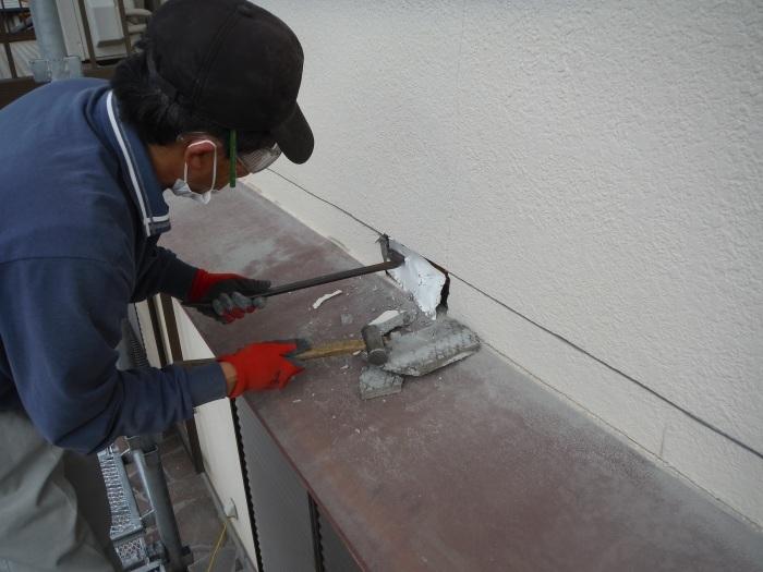屋根・外壁の塗り替え ~ リビング庇を取外し。_d0165368_04234073.jpg