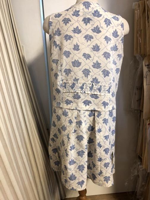 着物リメイク・麻の着物からフリルロングベスト_d0127925_23330111.jpg