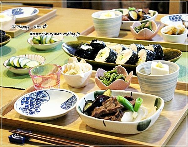 豚肉ピーマン茄子筍の甘辛炒め弁当と今夜はおうち呑み♪_f0348032_18284952.jpg