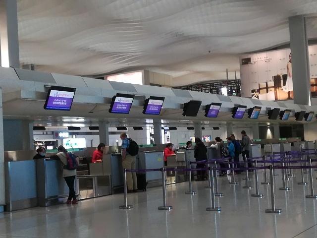 機場@UO624便チェックイン_b0248150_19282837.jpg
