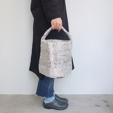 RECTANGLE : Silver Basket (Small Tote)_a0234452_18393086.jpg