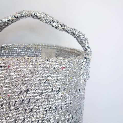 RECTANGLE : Silver Basket (Small Tote)_a0234452_18393390.jpg