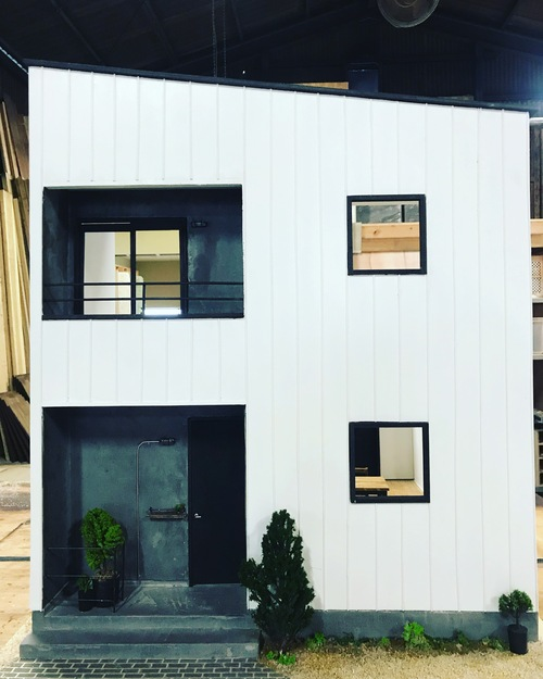 規格住宅 模型製作2_c0180474_22281548.jpg