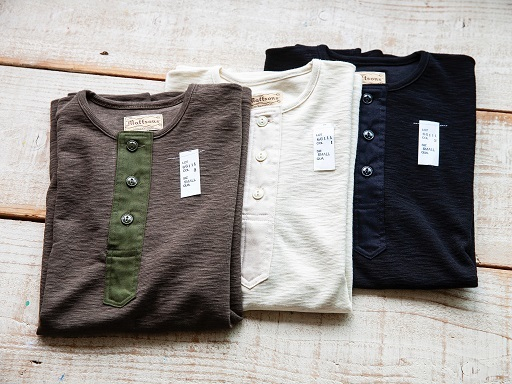"MATTSONS\'より""SLAB KNIT HENLEY NECK T-SHIRTS\""のご紹介です!!_d0160378_13454889.jpg"
