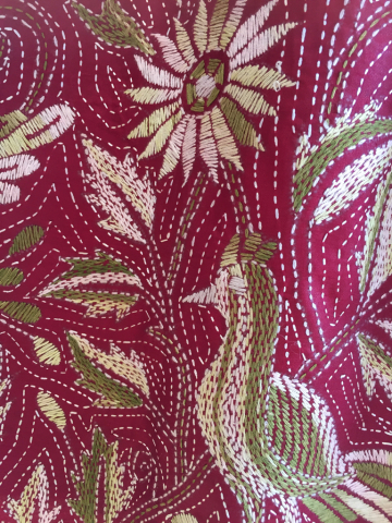 水玉のコットンワンピース、シルク手刺繍スカート_d0187468_12403616.jpg