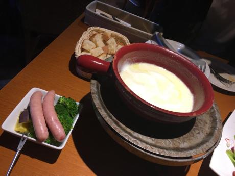 軽井沢旅行。チーズフォンデュ。_b0370192_22400044.jpg