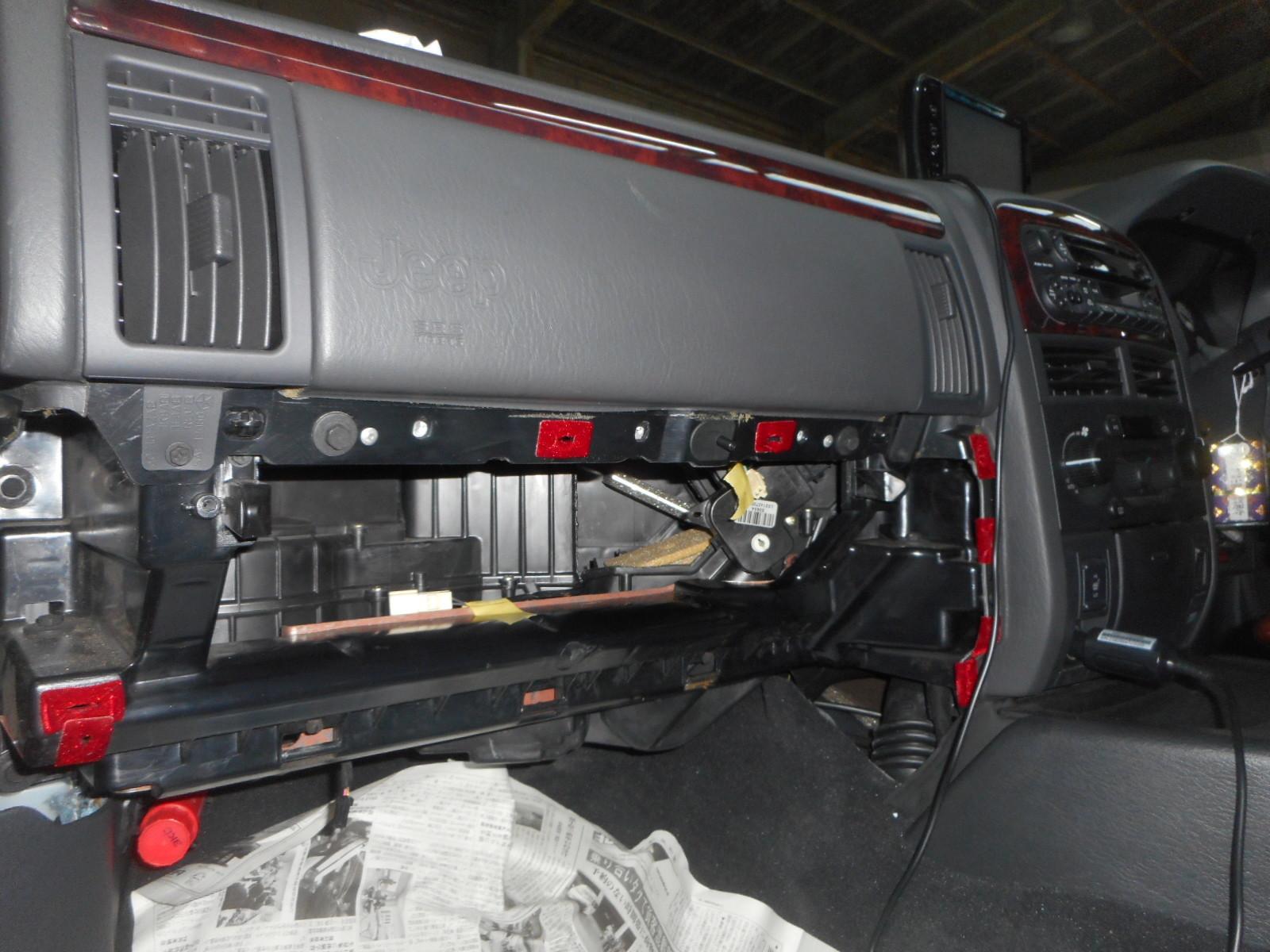 グランドチェロキー エアコン効き悪い修理 (フラップ交換)_c0267693_16014624.jpg