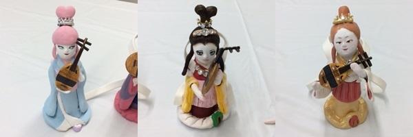 2日間短期集中講座【 創作人形講座「弁財天」】無事に終わりました。_c0357605_13221199.jpg