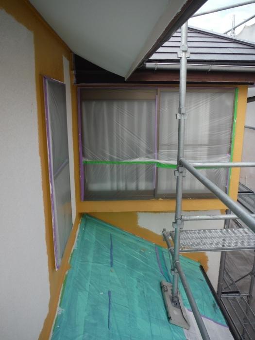 屋根・外壁の塗り替え ~ 軒天と壁塗り_d0165368_03202517.jpg