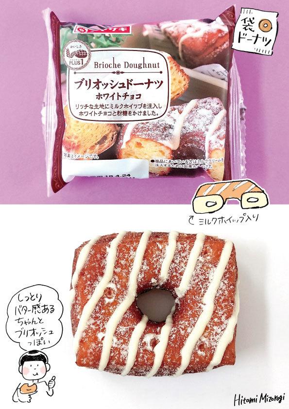 【袋ドーナツ】山崎製パン「ブリオッシュドーナツ ホワイトチョコ」【確かにブリオッシュではある】_d0272182_12273696.jpg
