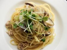 5/16本日パスタ:鶏挽肉と椎茸の和風スパゲティ_a0116684_11571945.jpg