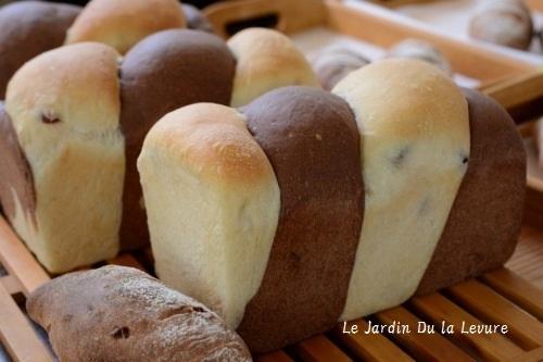 あこ天然酵母でシナモンくるみレーズン、ココアツイスト食パン、モーモーさん_f0329586_22342530.jpg