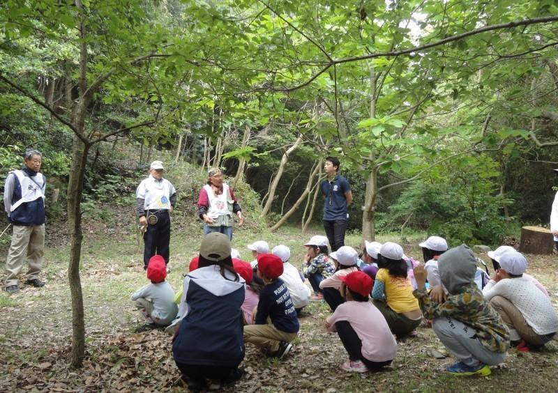 多奈川小学校1・2年生遠足 in うみべの森探検_c0108460_15552573.jpg