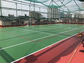 屋上テニスコート防水工事(中野区)_c0183605_18041994.jpg