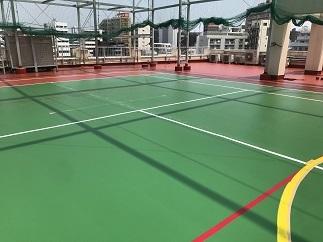 屋上テニスコート防水工事(中野区)_c0183605_18043768.jpg