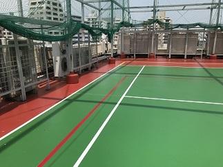 屋上テニスコート防水工事(中野区)_c0183605_18050062.jpg