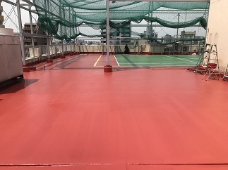 屋上テニスコート防水工事(中野区)_c0183605_18051952.jpg