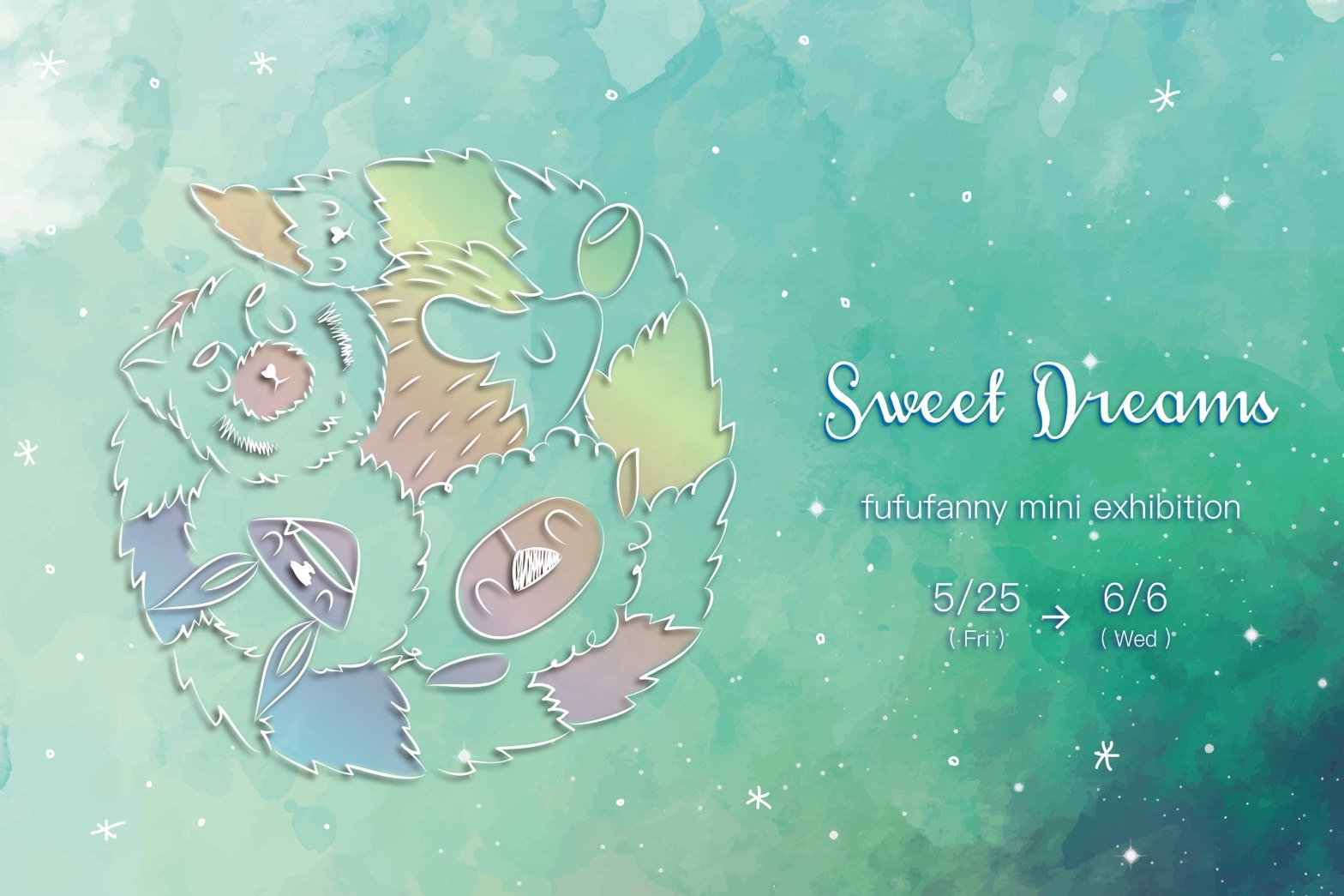 5/25~6/6 fufufannyさん mini exhibition 『Sweet Dreams』開催のお知らせ_f0010033_23363582.jpg