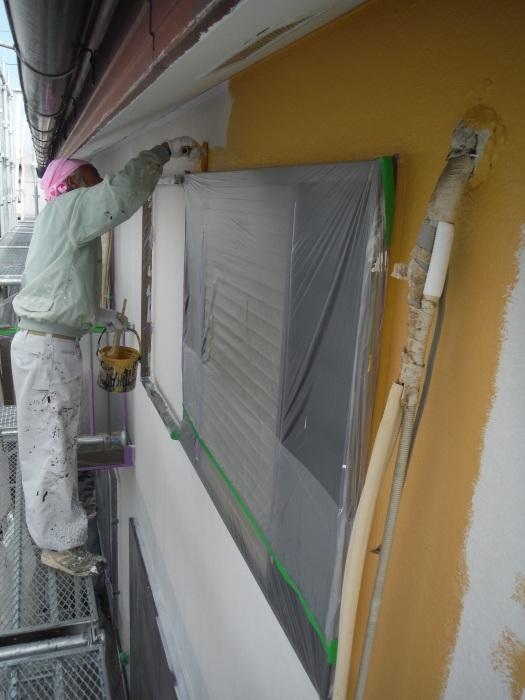 屋根・外壁の塗り替え ~ 壁の上塗り、雨樋取替_d0165368_05044308.jpg