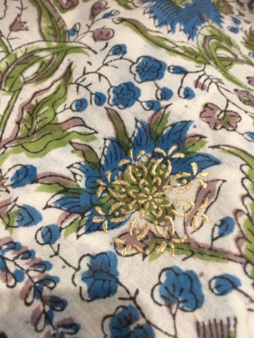 インド・ブロックプリントのシャツブラウス、ショート丈のコットンブラウス_d0187468_13230298.jpg