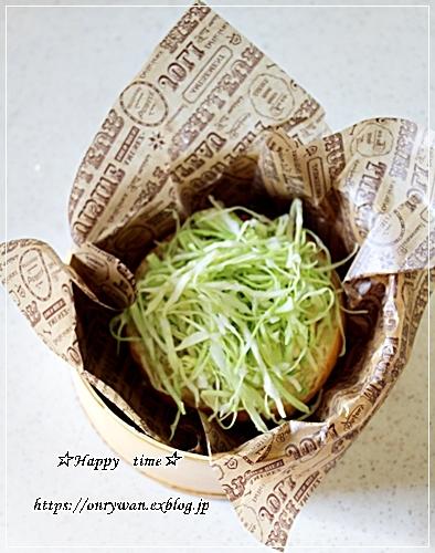 手作りバンズで海老カツバーガー弁当と豚の生姜焼き♪_f0348032_18201589.jpg