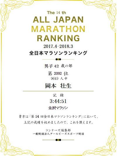 全日本マラソンランキング_a0210340_19545616.jpg