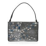 身につける漆  蒔絵のハンドバッグ 2WAY セカンドバッグ 銀粉 万華鏡ブルー 銀色粉 2way bag clutch and evening bag Kaleidoscope Blue & Silver 高級感あふれる上質な牛革にキラキラと輝く華やかな蒔絵、持ちやすい太めのハンドルはスナップボタンで取り外しクラッチバッグとしても使用可能、B5サイズのタブレットが入る使いやすさとデザイン性の両方兼ね備えた仕上り、和装にも洋装にも合わせやすく、旅行先や結婚式、パーティーなどのフォーマルなシーンにも重宝します。 #2wayバッグ #蒔絵バッグ #ハンドバッグ #クラッチバッグ #万華鏡 #華やかな蒔絵 #ショルダーバッグ #クラッチバッグ #パーティーバッグ #2waybag #handbags #leatherbags #MAKIEbags #kaleidoscope #clutchbag #eveningbag #partybag