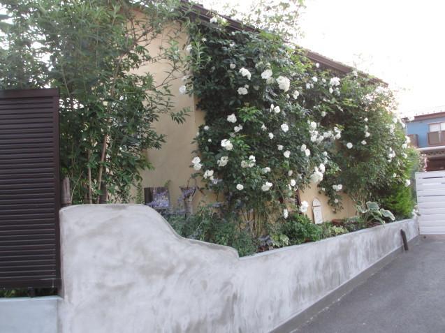 ガーデンハウス北側、ブロック土留めを平坦にしてもらいました_a0243064_07242161.jpg