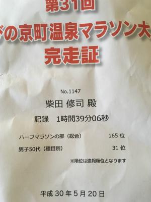 第31回 えびの京町温泉マラソン   _f0220089_17585437.jpg