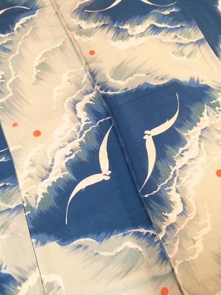 26日(土)より!目黒不動前「空フル〜カラフル〜vol.11」波にカモメ絽縮緬着物×向日葵薔薇帯♪販売商品20_c0321302_10002345.jpg